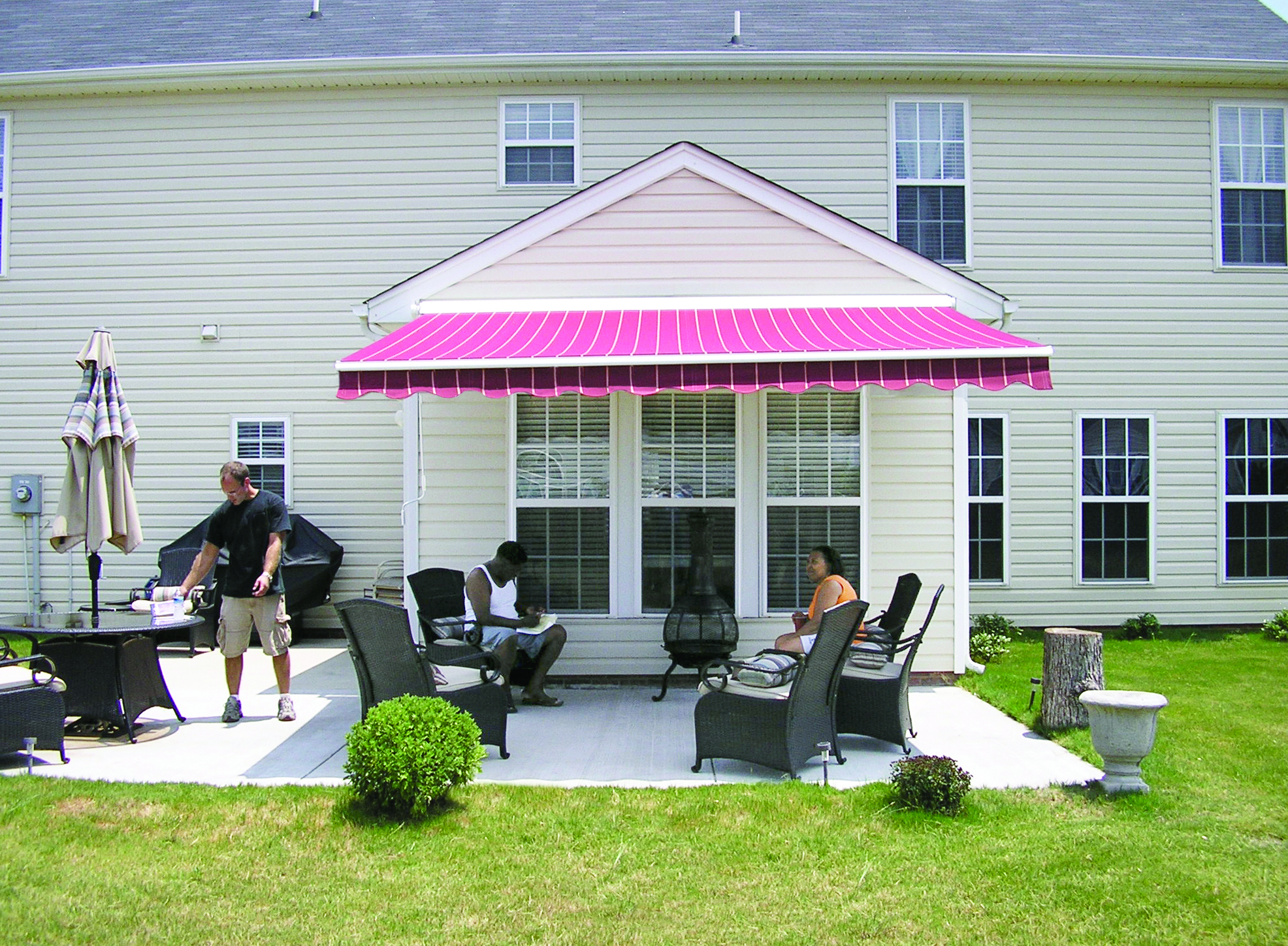 cost deck decks patio and aluminum awnings home long for wood over island lowes awning canopies maryland kits
